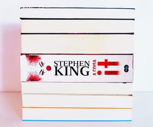 book, clown, and Stephen King image