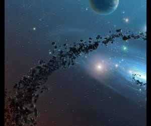 asteroids, milky way, and planets image