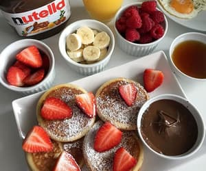 breakfast, dulce, and fruta image