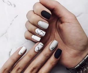 accessories, marble, and nail art image