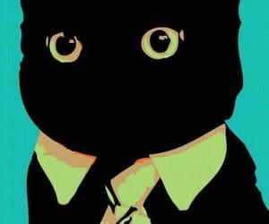 desenho, black cat, and cartoon image