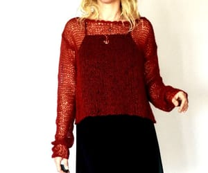 etsy, mohair sweater, and women's outfit image