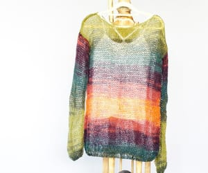 etsy, sheer blouse, and mohair sweater image