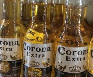 beer, gold, and corona image