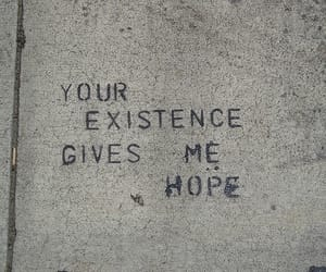 hope, message, and street art image