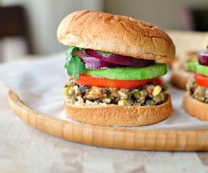 burger, delicious, and healthy image