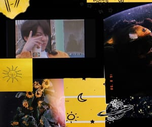 black, yellow, and lockscreen image