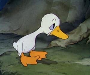 disney, duck, and sad image
