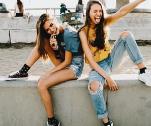best friends, outfits, and blue image
