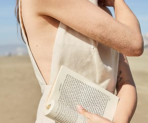 book, hair, and indie image