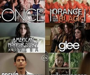 funny, american horror story, and glee image