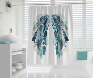 etsy, fabric shower, and shower curtain image