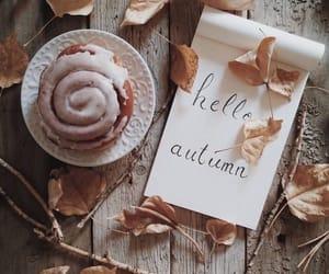 autumn, fall, and cinnamon bun image