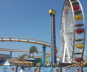 ferris wheel, fun, and la image