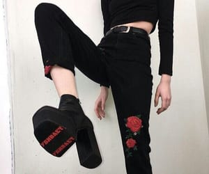 aesthetic, jeans, and black image