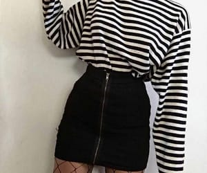fishnet, outfit, and skirt image