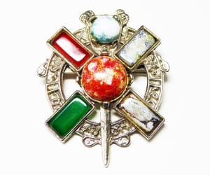 art glass, gift for her, and irish brooch image