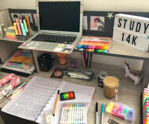 goals, notes, and office image