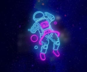 space, neon, and wallpaper image