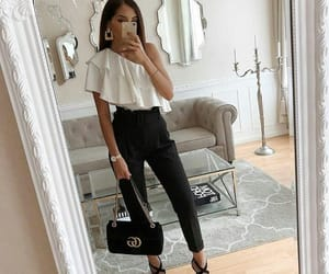 black, blouse, and gucci image