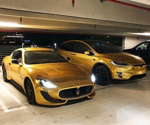 car, gold, and lifestyle image