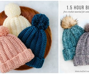 crochet and beanie hat image