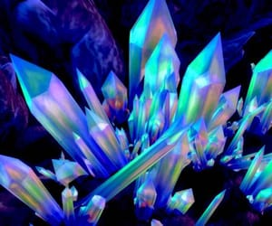 beautiful, blue, and crystals image