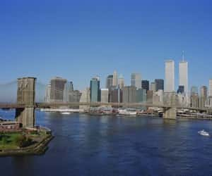 new york city, twin towers, and morning of 9 11 image