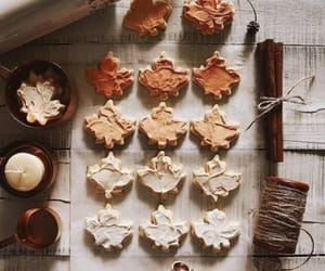autumn, Cookies, and leaves image