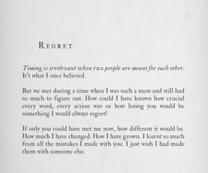 regret, love, and quotes image