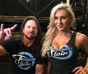 wwe, charlotte flair, and aj styles image
