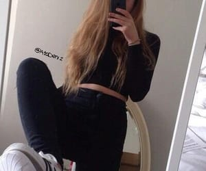 adidas, long hair, and sneakers image