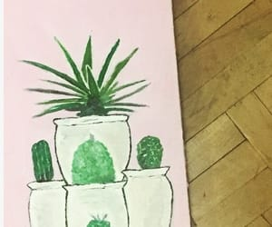cactus, decor, and flower image