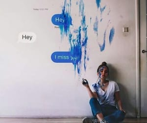 alone, girl, and text image