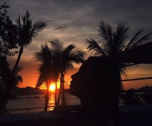 beach, sky, and méxico image