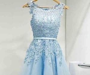 blue prom dress, 2018 homecoming dress, and short homecoming dress image