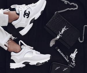 bag, black and white, and purse image