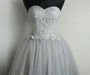 prom dress short, grey homecoming dresses, and prom dress lace image