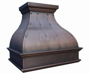 copper range hoods, copper hood, and copper hood vents image