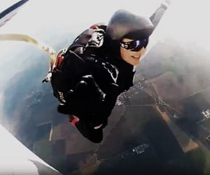 adrenaline, skydive, and sky image