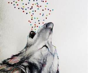 art, wolf, and illustration image