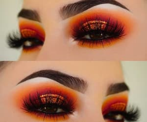 girly, make up, and eyesshadow image