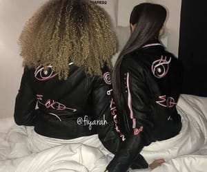 fashion style, outfit clothes, and friendship friend image