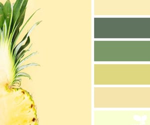 paint, pineapple, and swatches image