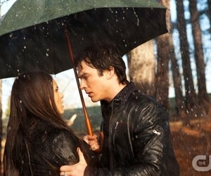 delena, damon, and elena image