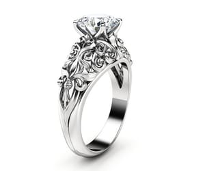 Art Nouveau, engagement ring, and engagementring image
