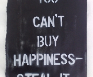 words, buy happiness, and steal happiness image