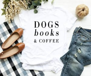 book, coffee, and etsy image