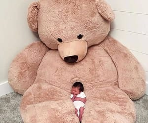 baby, bear, and teddy bear image