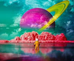 astronaut, illustration, and surrealism image
